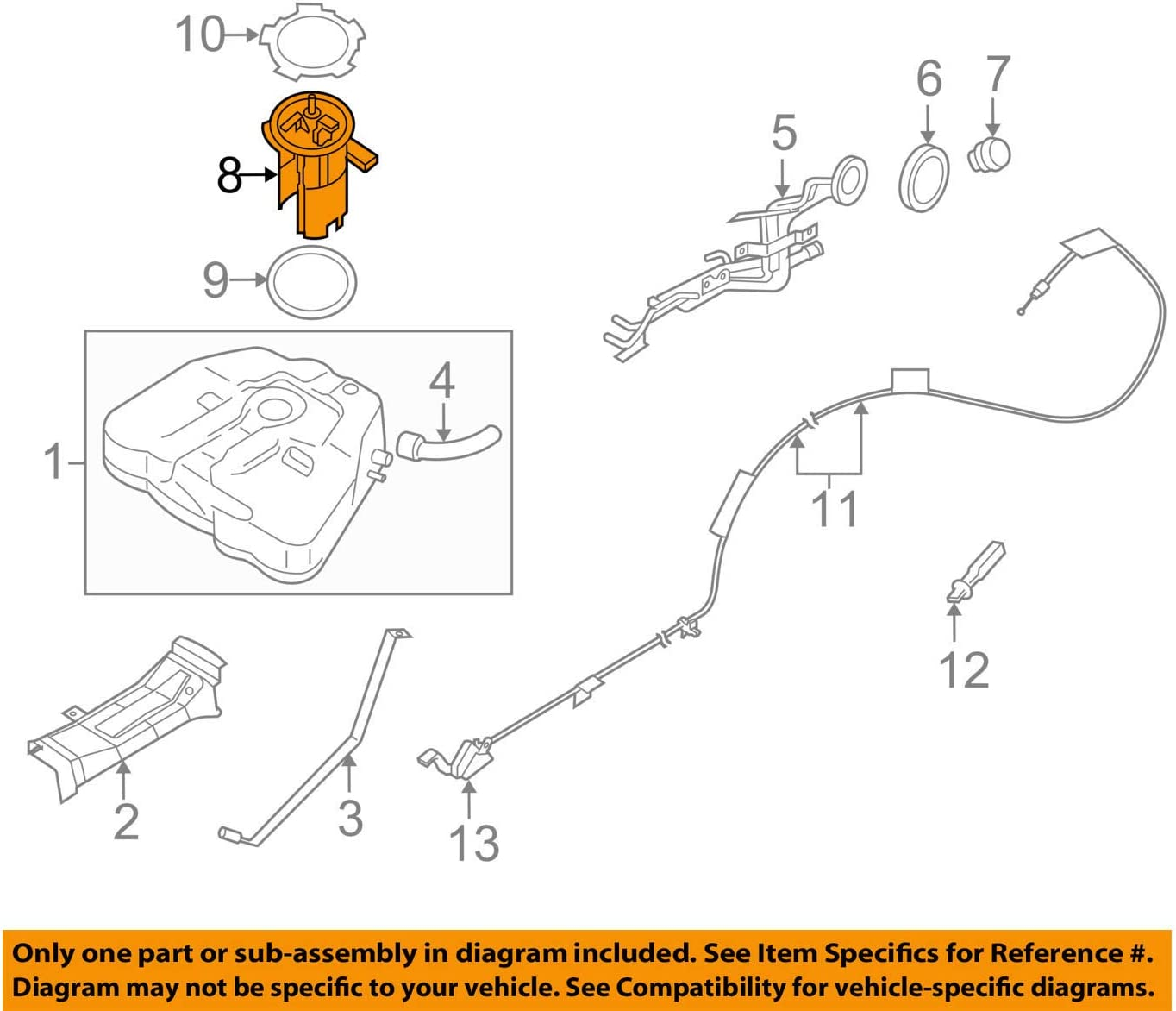 Amazon.com: Genuine OEM Nissan 17040-ZX00A - Altima Maxima Complete Fuel  Pump Assembly: Automotive [ 1175 x 1374 Pixel ]