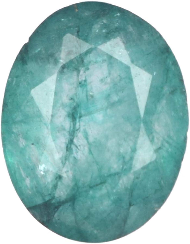 Real Gems Tamaño pequeño Anillo de Esmeralda Tamaño de Piedras Preciosas Naturales, Verde Esmeralda 6,00 CT Piedra, Piedra facetada de Forma Ovalada
