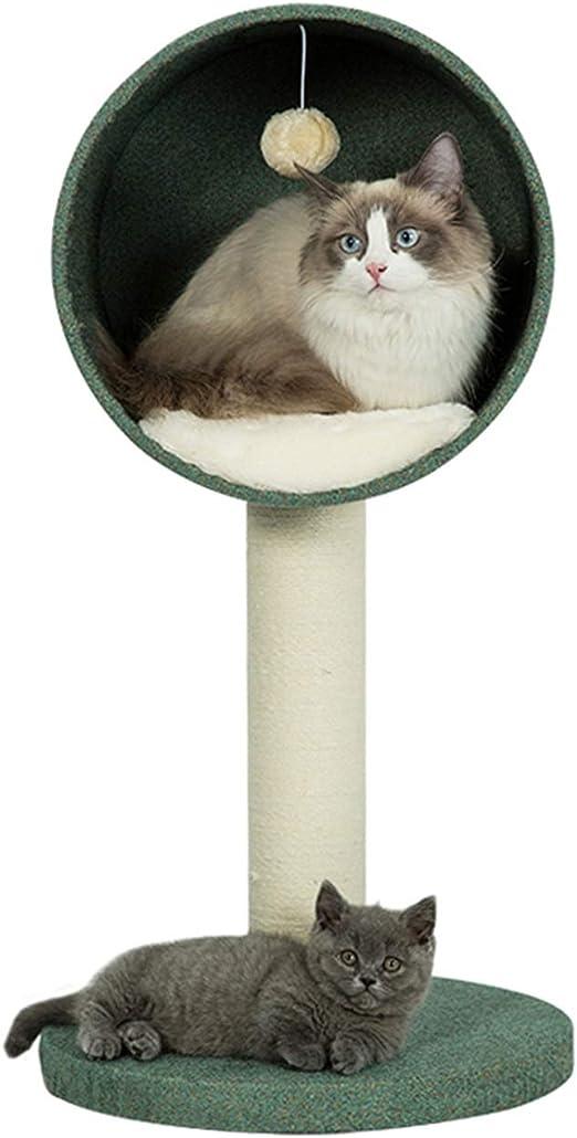 Escalera Trepadora De La Casa del Árbol del Gato Construcción Estable Y Piel Suave, Muebles De La Torre del Gato - para Gatitos, Gatos Y Mascotas, 3 Estilo (Color : A ...