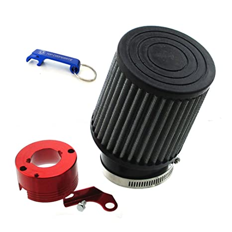 TC-Motor Air Filter + Adapter For 11Hp 13Hp Honda GX340 GX390 Clone Engine  Go Kart (Red)