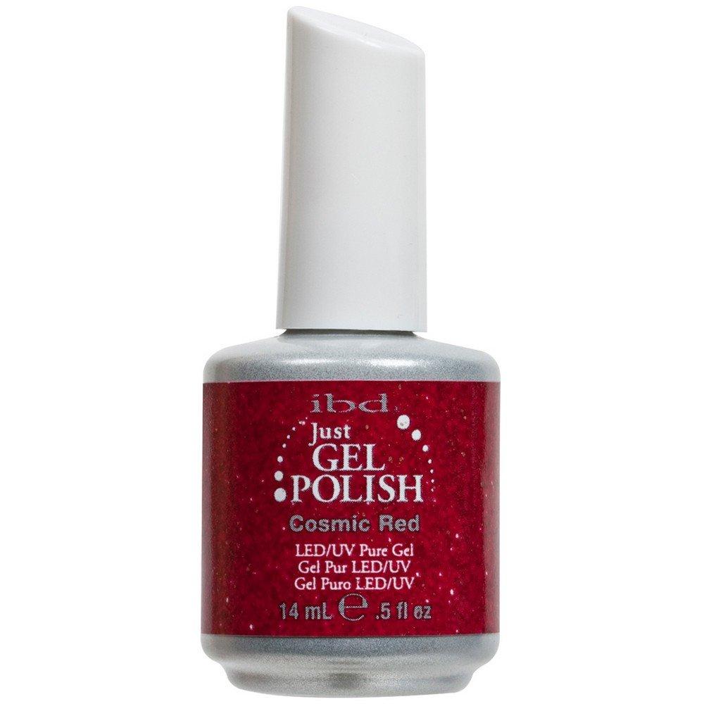 Amazon.com : IBD Just Gel COSMIC RED Soak Off Glitter Nail Polish UV ...