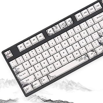 Sunzit Keycaps, 126 Tecla Teclado mecánico Teclado PBT Keycap ...