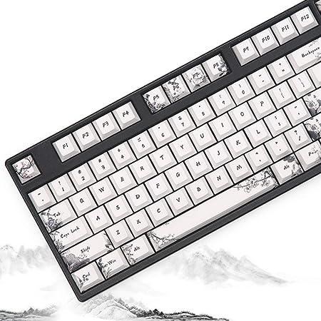 Sunzit Keycaps, 108 Tecla Teclado mecánico Teclado PBT Keycap ...