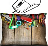 MSD Mouse Wrist Rest Office Decor Wrist Supporter Pillow design: 30873414 School tools On a wooden background