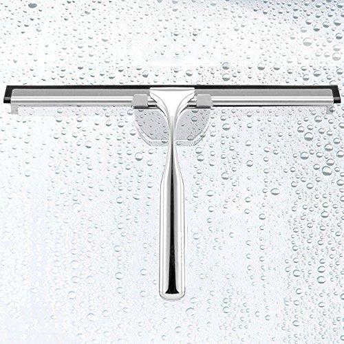 Hygienic Squeegee - BONV Wiper Zinc Alloy Wiper Stainless Steel Glass Scraper Car Glass Cleaning Brush