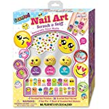 Hot Focus Scented Nail Art, EMOJI -3 polishes Set with sticker , water base, easy peel-off, non-toxic