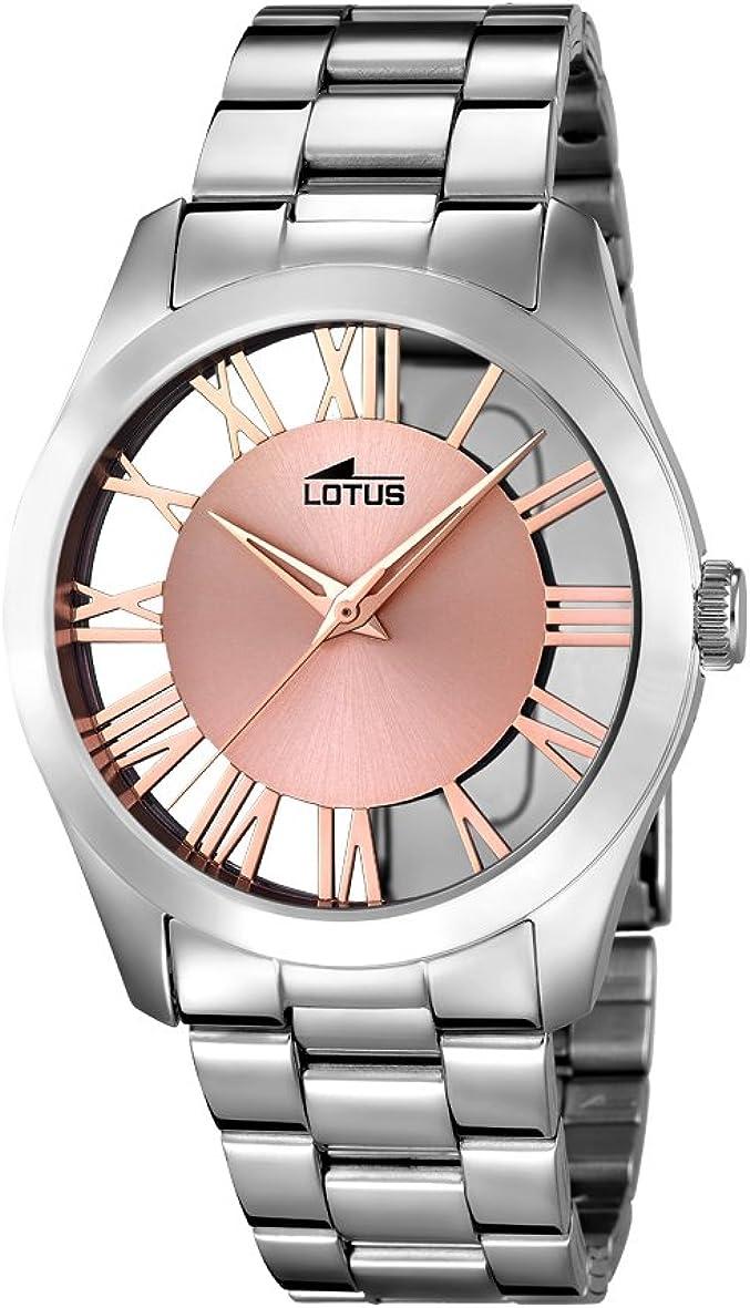 Lotus Watches Reloj Análogo clásico para Mujer de Cuarzo con Correa en Acero Inoxidable 18122/1