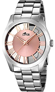 f5d0582086c0 Lotus Watches Reloj Análogo clásico para Mujer de Cuarzo con Correa en  Acero Inoxidable 18122
