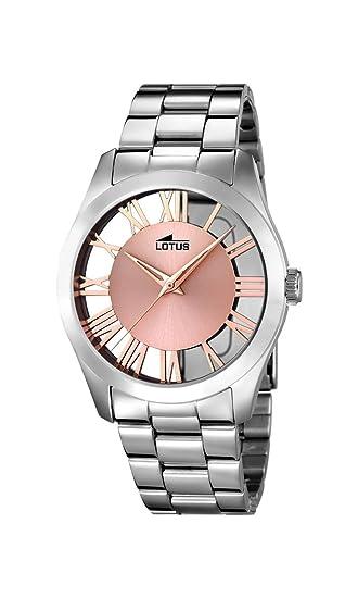 e9ec74ebbc8f Lotus Watches Reloj Análogo clásico para Mujer de Cuarzo con Correa en Acero  Inoxidable 18122 1  Amazon.es  Relojes