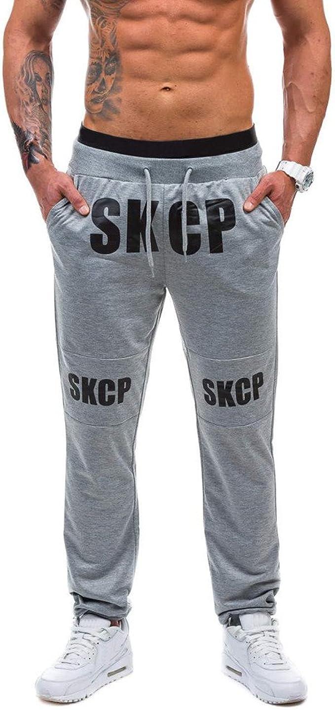 Sylar OtoñO Pantalón para Hombre Casual Jogging Simple ...