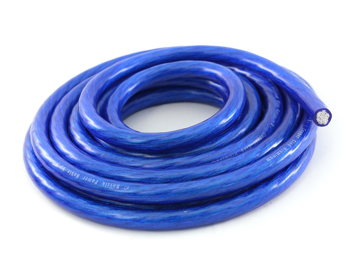 KnuKonceptz Bassik 4 Gauge Blue Power / Ground Wire Cable - 50 Feet
