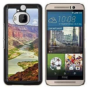 gran Cañón- Metal de aluminio y de plástico duro Caja del teléfono - Negro - HTC One M9+ / M9 Plus (Not M9)