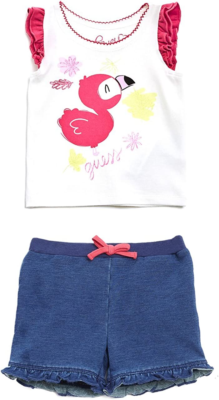 GUESS Baby Girls Set-Sleeveless T-Shirt and Shorts