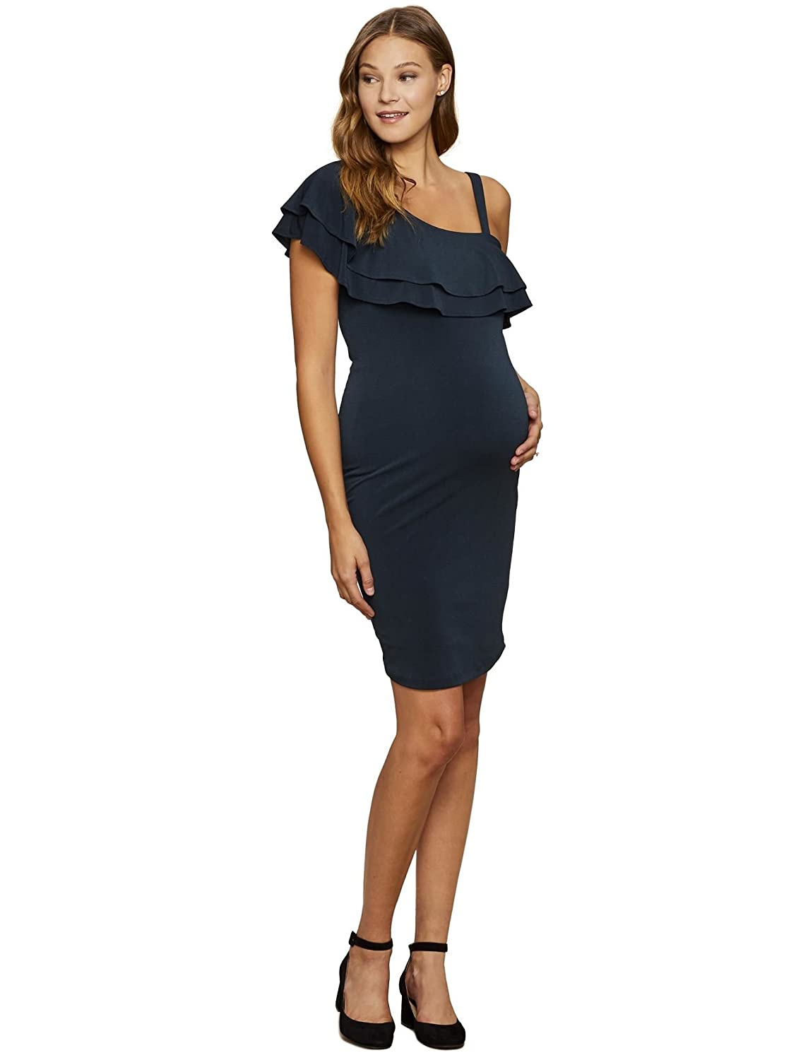 Jessica Simpson Ruffle Front Maternity Dress