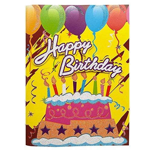 Birthday Card with Melody, Interactive Music Fanciful Birthday Greeting Cards, Childhood Memory Birthday Card with Happy Birthday to You Song for Mom Wife Husband Dad Boyfriend Girlfriend, etc - 1 Pcs