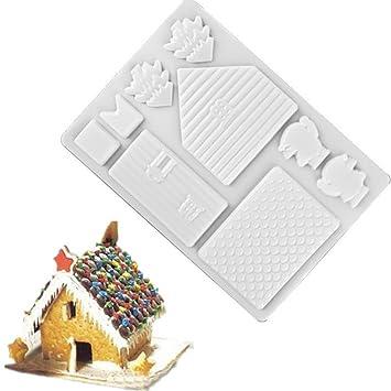 Molde Molde plástico forma molde Casa Chocolate Casita navideña NAVIDAD: Amazon.es: Electrónica