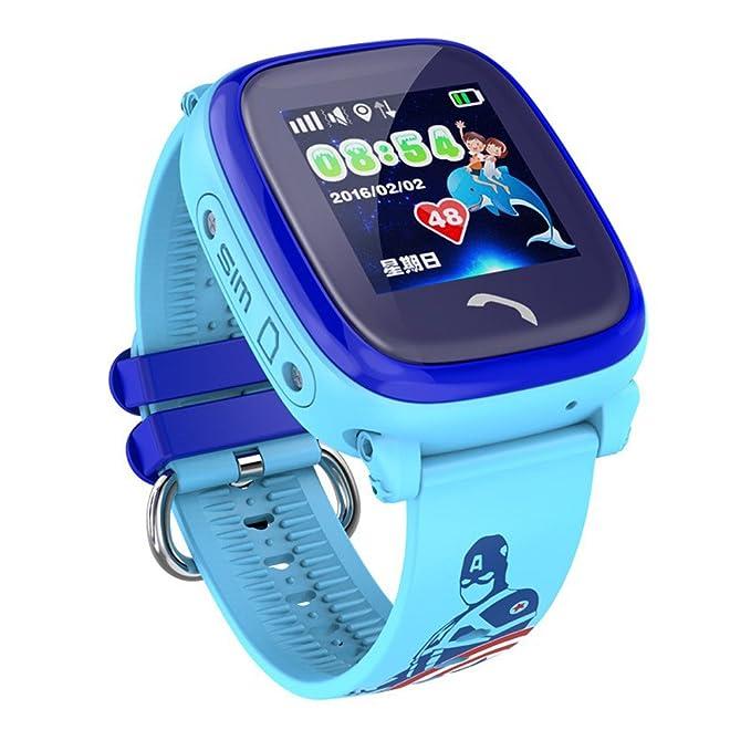Shengmo - Reloj inteligente para niños con GPS DF25 resistente al ...