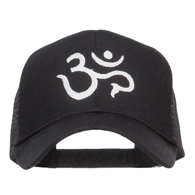E4hats Hindu Om Symbol Embroidered Mesh Cap Black Osfm At Amazon