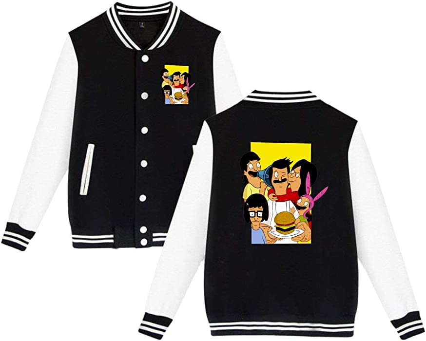 Baseball Uniform Jacket Sport Coat Bobs Bur Gers Cotton Sweater For