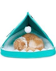 Authda Cama de Fieltro para Gatos Portátil Lavable Suave Cálida y Desmontable Apta para Perros y