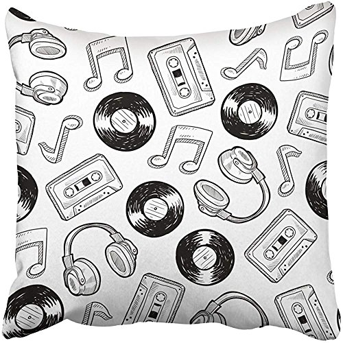 """Throw Pillow Cover 18""""X18"""" Decorative Polyester Doodle Style"""