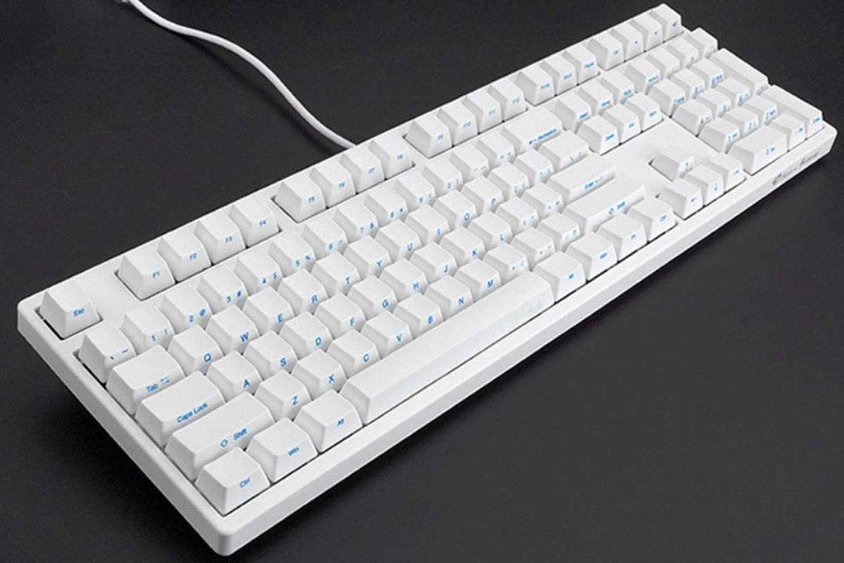 Full-Size Mechanical Wired Computer Keyboard Office Esports Universal Retro Style Fashion Jingfeng Keyboard Color : White Black, 44142.7cm