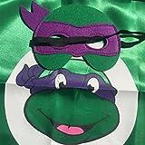 Starkma Superhero Tmnt Cartoon Costume 4 Satin Cape with Felt Mask
