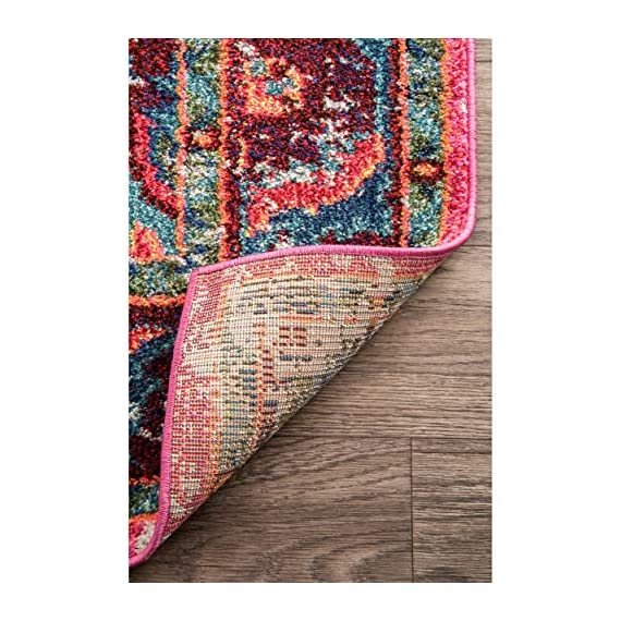 "nuLOOM Corbett Vintage Boho Runner Rug, 2' 6"" x 8', Multi - Made in Turkey PREMIUM MATERIAL: Crafted of durable synthetic fibers, it has soft texture and is easy to clean SLEEK LOOK: Doesn't obstruct doorways and brings elegance to any space - runner-rugs, entryway-furniture-decor, entryway-laundry-room - 61fxpNJbAyL. SS570  -"