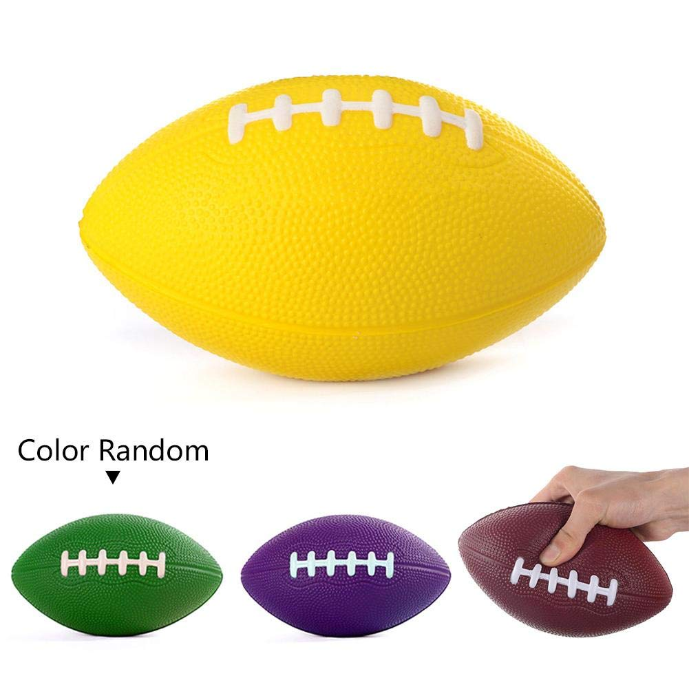 tama/ño peque/ño Color al Azar Teabelle Pelota de Rugby de Poliuretano de 6 Pulgadas para ni/ños peque/ños