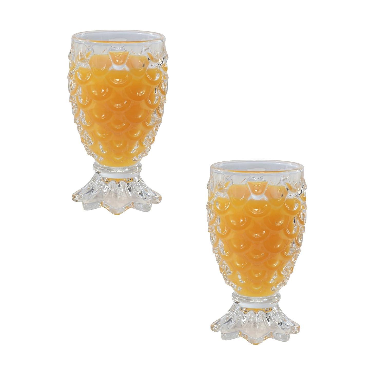 Upside-Down Pineapple Cocktail Sundae Milkshake Glasses - Set of 2 GOLDBEARUK