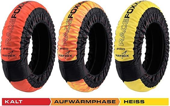 Matrix Reifenwärmer Tire Warmers Racefoxx 80 100 C Heiztemperatur Superbike 120 17 Vorne Und 180 200 17 Hinten Rennsport Heizdecken Motorradreifen Auto