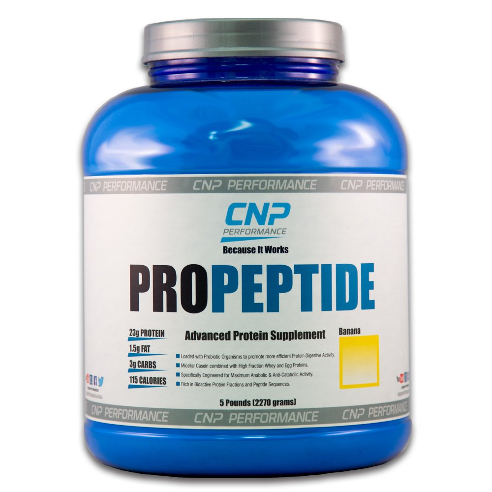 CNP ProPeptide   Professional Grade Protein Powder   Advanced Nutrition Supplement (5lb, Banana)