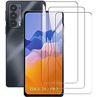 SCL Skärmskydd för Motorola Edge 20/20 Pro skärmskydd Moto Edge 20/20 Pro härdat glasfilm [3-pack], 2,5D rundad kant…