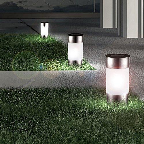 Éclairage de l\'allée de jardin extérieur douze LED lampes solaires ...