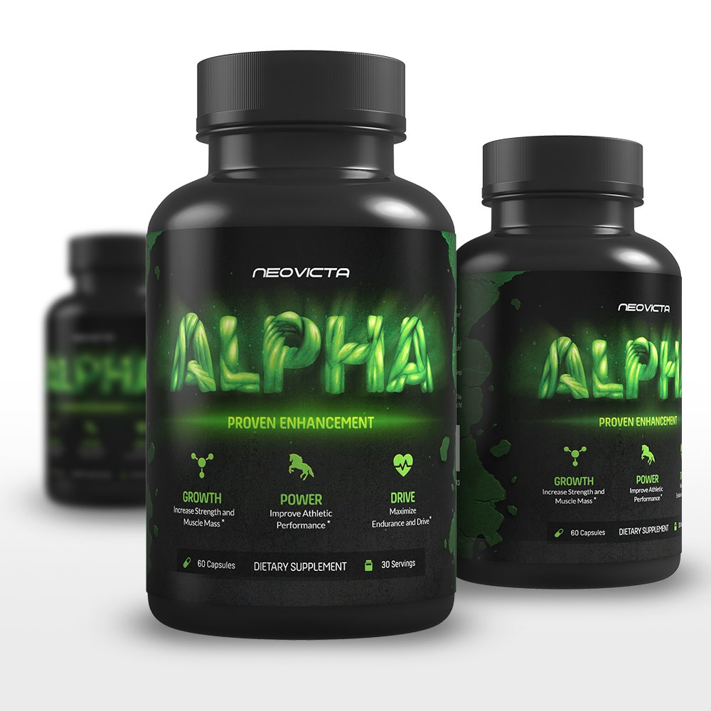 Best Testosterone Booster Supplement For Men - Alpha by Neovicta - Increase Muscle, Strength, Energy & Athletic Performance - Liver & Kidney Aid - 60 Count