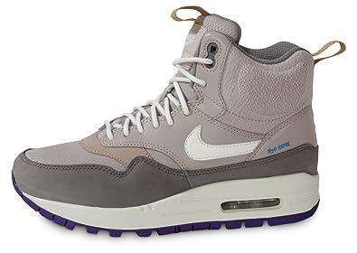 Nike WMNS Air Max 1 Mid Snkrbt Sneakerboot Grey White Grau Wei 685267 002