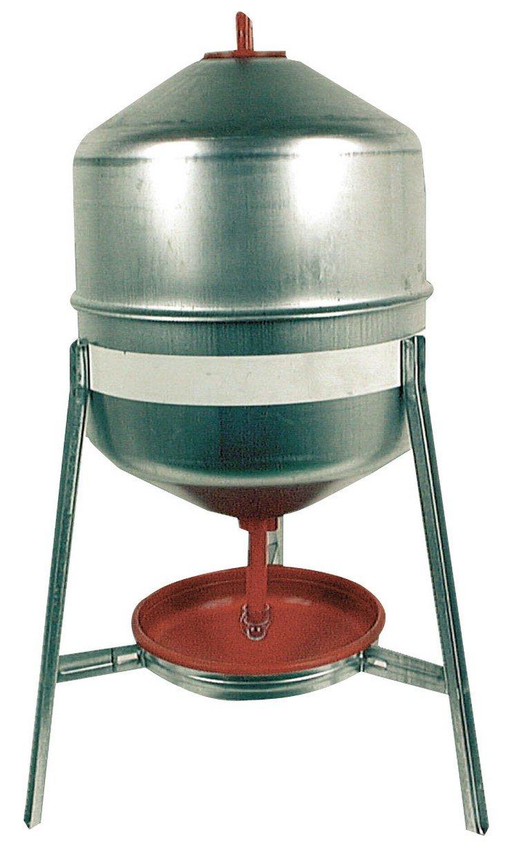 DUVO depósito de galvanizado/potable comedero para gallinas Duvo+ 500/730