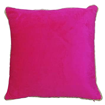 Amazon.com: Indian Home Décor Cojín Almohada Rosa Cuadrado ...