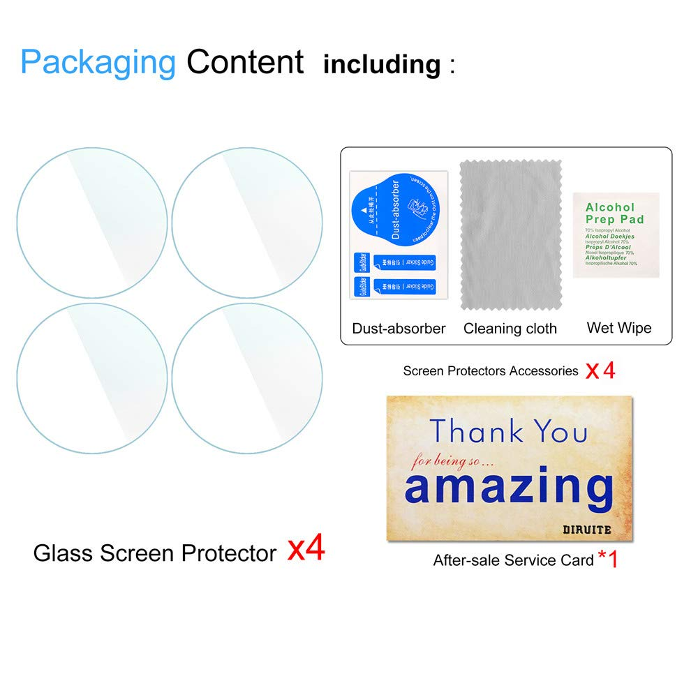HD Tempered Glass Screen Protector for Garmin Forerunner 45 Smartwatch Suoman 4-Pack for Garmin Forerunner 45 Screen Protector Tempered Glass