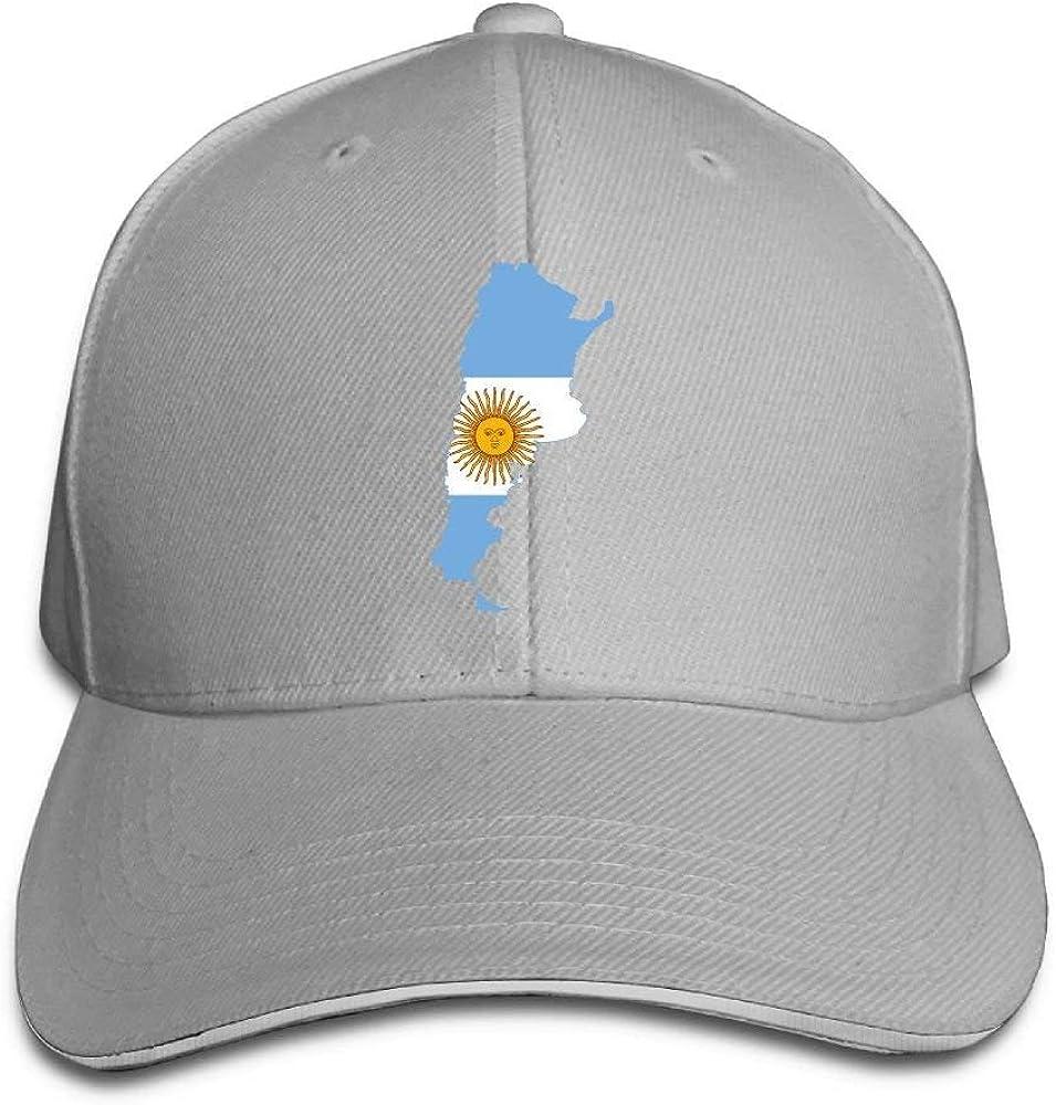 Presock Gorra De Béisbol,Gorro/Gorra Unisex Flag Map of Argentina ...