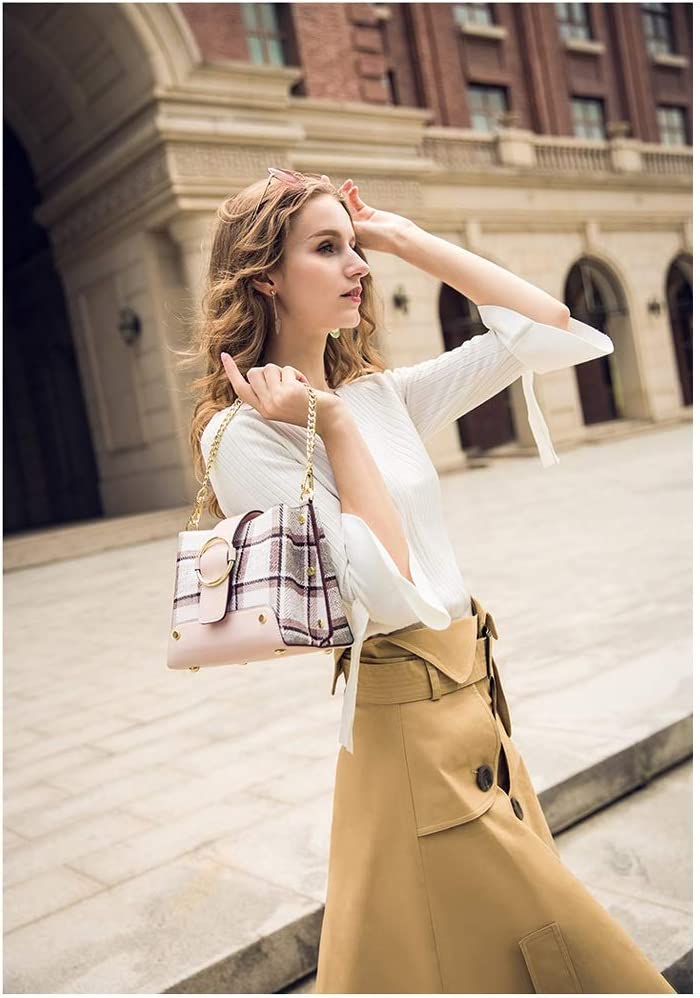 Kmgjc Womens Bag Chain Hand Bag Shoulder Slung Retro Bag Color : A, Size : 957 inches