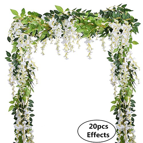 4pcs 66ftpiece artificial flowers silk wisteria garland dearhouse 4pcs 66ftpiece artificial flowers silk wisteria garland dearhouse artificial wisteria vine rattan silk hanging flower for home garden outdoor ceremony mightylinksfo