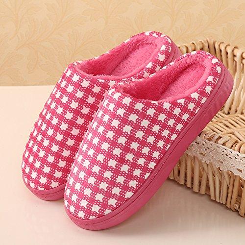 Cotone Semplici Caldo H Ispessimento Indoor Home Appassionati Pantofole D'inverno Ymfie Scarpe xTBq0gH7wq