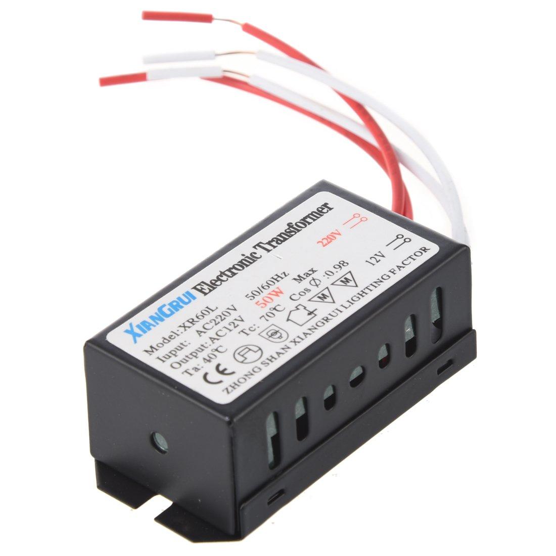 VYNBDA 200-250V a 12V Transformador electronico de luz halogena 50W