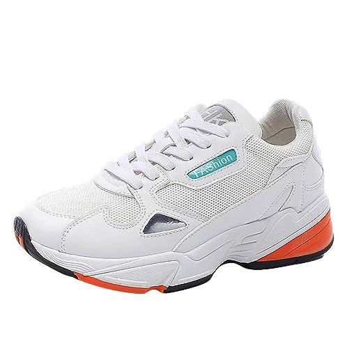 Zapatillas Deportivas de Mujer Air Cordones Zapatillas de Running Fitness Sneakers Mujeres Al Aire Libre Malla Cordones Deportes Zapatos Transpirable Suave ...