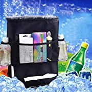 Naladoo Auto Car Back Seat Storage Bag Cover Holder Bottle Tissue Food Organizer,Useful To Storage Water Bottle, Magazine, Cup, Food