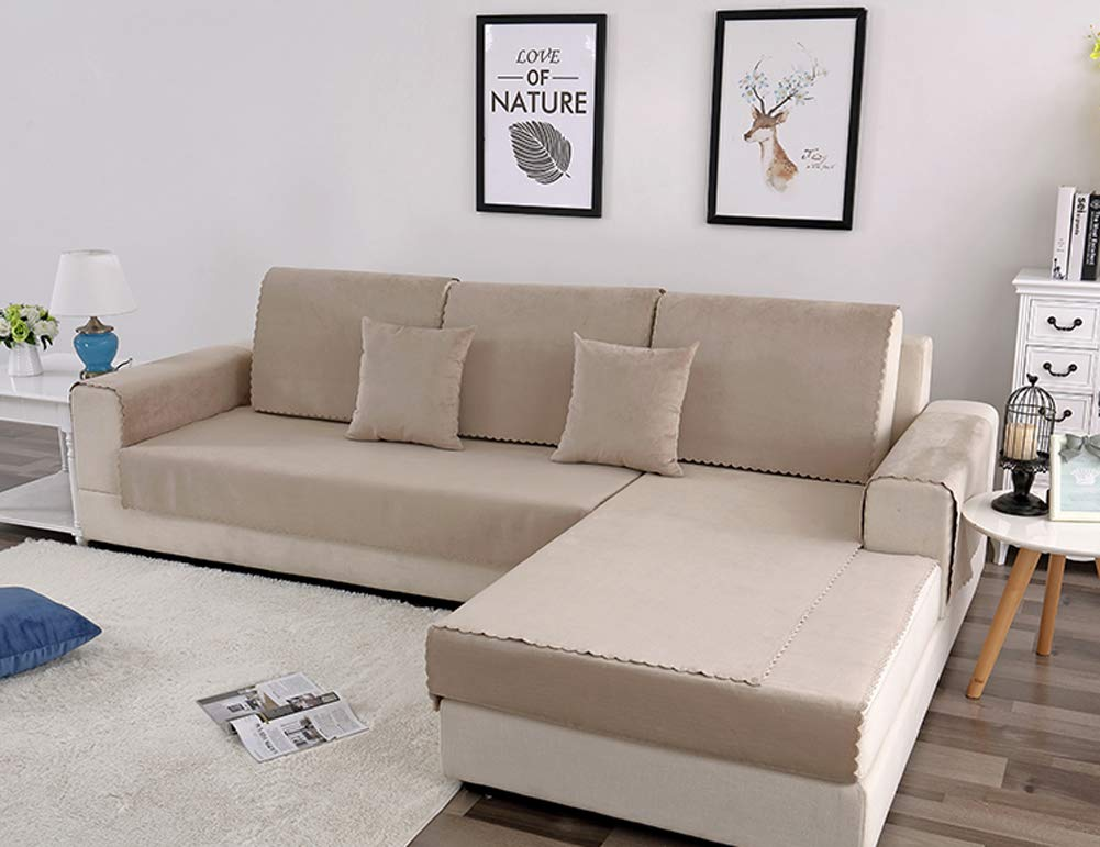 Toalla de sofá impermeable color sólido cubierta del sofá ...