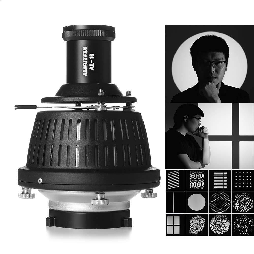 AMBITFUL Bowens Mount Conical Optical Focalize Condenser Art Special Effects Shaped Beam Light Cylinder Light Cylinder