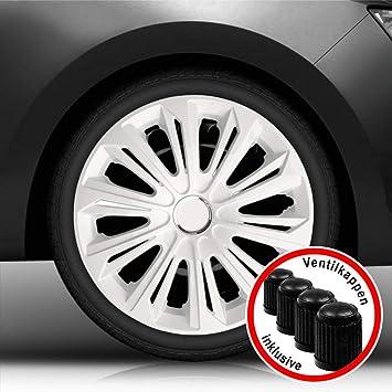 passend f/ür Fast alle Fahrzeugtypen Autoteppich Stylers Aktion Bundle 16 Zoll Radkappen//Radzierblenden 006 Graphit universal Farbe Graphit