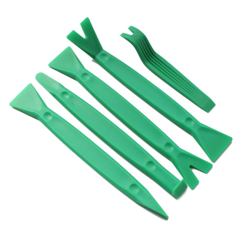 Cnfaner 6pcs Professional Vehicle Auto Trim Removal Tool Dashboard Panel Audio Dismantle Removal Install Opening Pry Repair Tools,with Durable Nylon Storage Bag